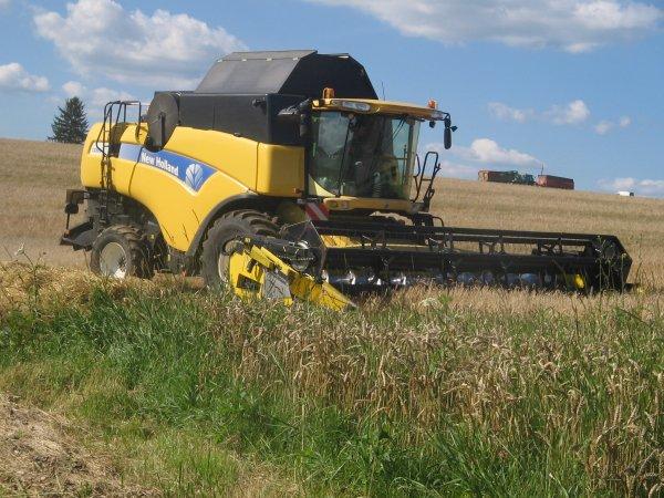 Moisson des blé 2012: avec une cx880!!!