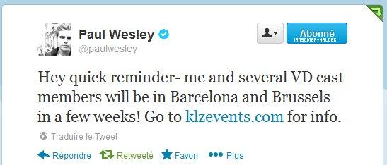 Voici un tweet de Ian ou il dit qu'il sera bientot a la convention de Bruxelles.. | En avril 2013.