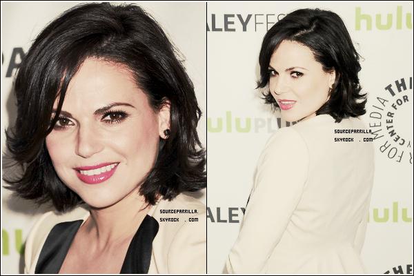 """. EVENTS 3/03/13 : Lana était au Media PaleyFest 2013 pour """"Once Upon A Time""""   + Je la trouve vraiment ravissante dans sa tenue et son maquillage et sa coiffure sont magnifique .  ."""