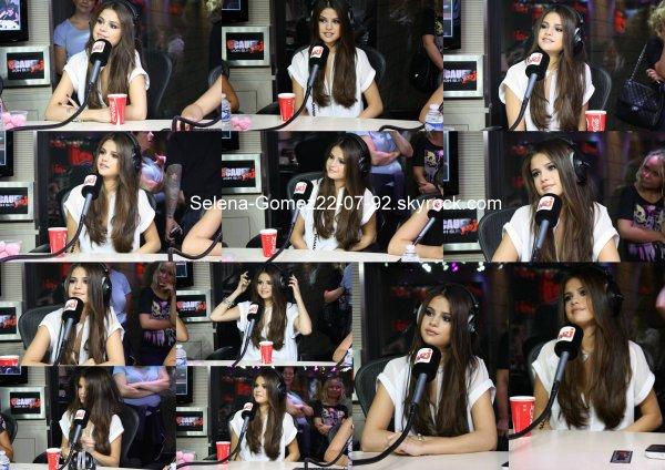 Selena a Paris  partie 2 (  aux studio NRJ )
