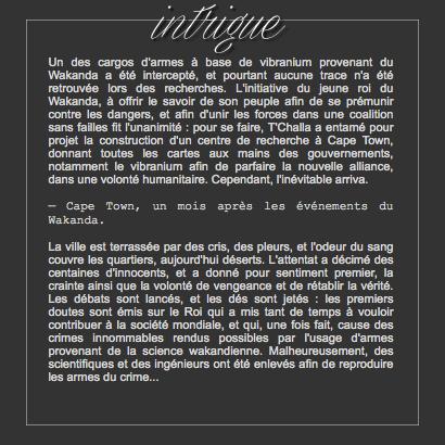 contexte / intrigue / event
