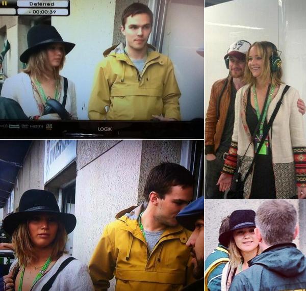 08JUIN2013 : Jennifer et Nicholas  ont été vus au Canadian Grand Prix par tous ceux qui regardaient l'émission à la télé.