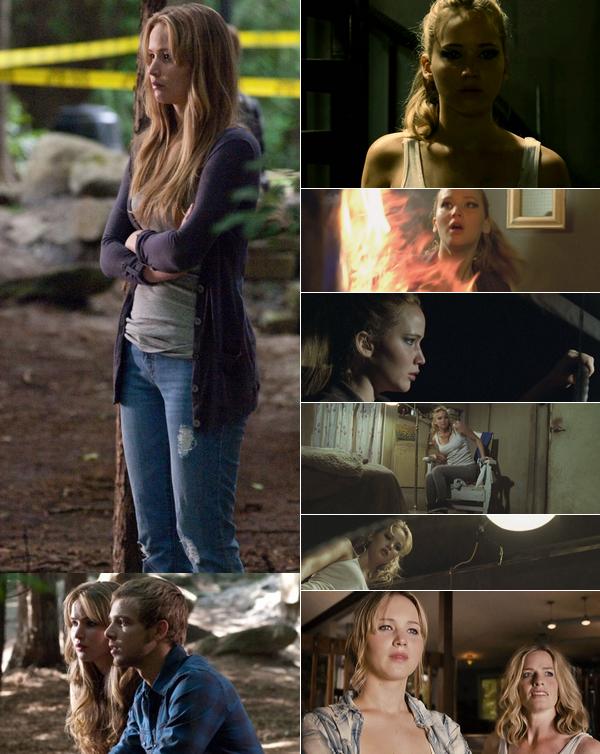 .  Retrouvez une grande partie des stills et screencaps de La Maison au bout de la rue, film d'horreur de 2012 où Jennifer a le rôle de Elissa, aux côtés de Max Theriot (Ryan), et Elisabeth Shue (Sarah).