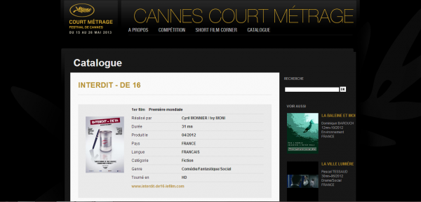 """Reportage du journal télévisé de la NC 1ère, chaine du groupe FRANCE TÉLÉVISION pour la promo du film """"Interdit - de 16""""."""