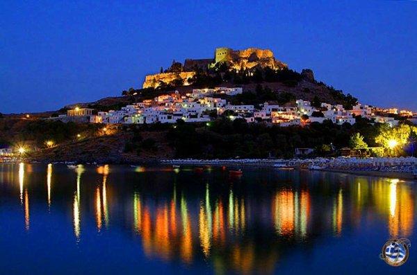 Rhodes par nuit