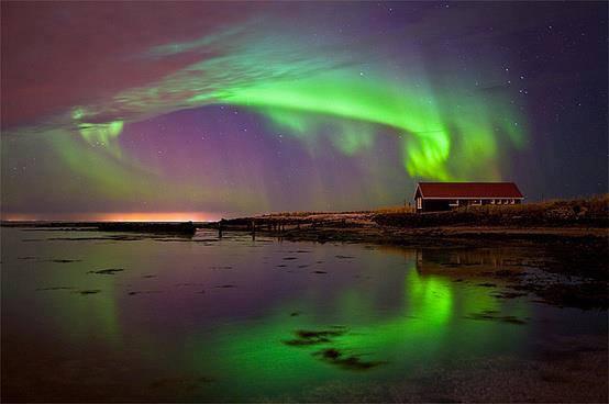 Aurore boréale Islande ...