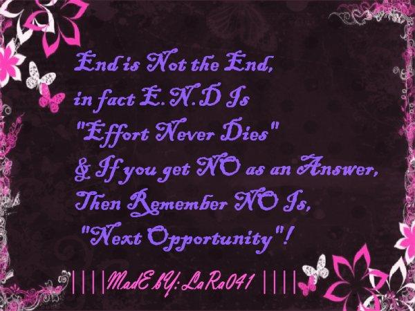 ;) (l) E.N.D  :)  (l)