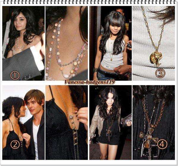 ✘ ZOOM sur les accessoires de Vanessa Hudgens (plus précisement les  COLLIERS  ) Never without Nessa ♥