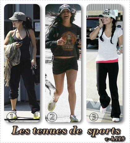 ZOOM sur 3 tenues de sports de Vanessa Hudgens
