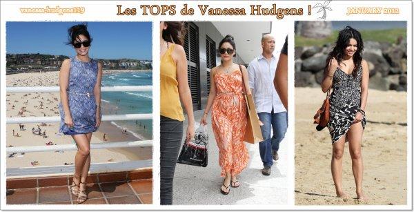 Vanessa Hudgens, les TOPS du Mois de JANVIER