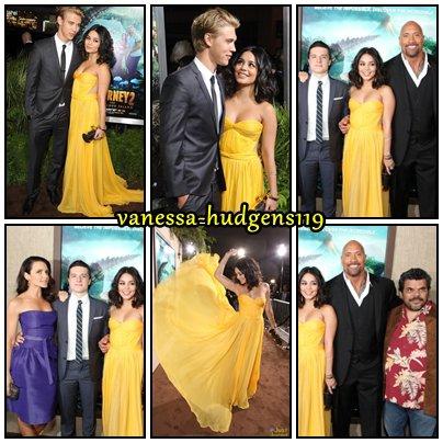 Le 02/02/12 : Vanessa Hudgens se rendant à la première de Journey 2 à Los Angeles, accompagné d'Austin Butler, mais aussi du cast du film - Josh Hutcherson - !