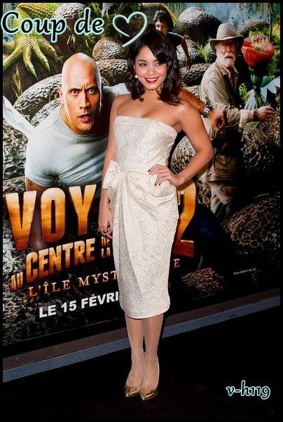 12.02.2012 : Vanessa à l'avant-première de Voyage au centre de le Terre 2 à Paris +  Coup de Coeur :D