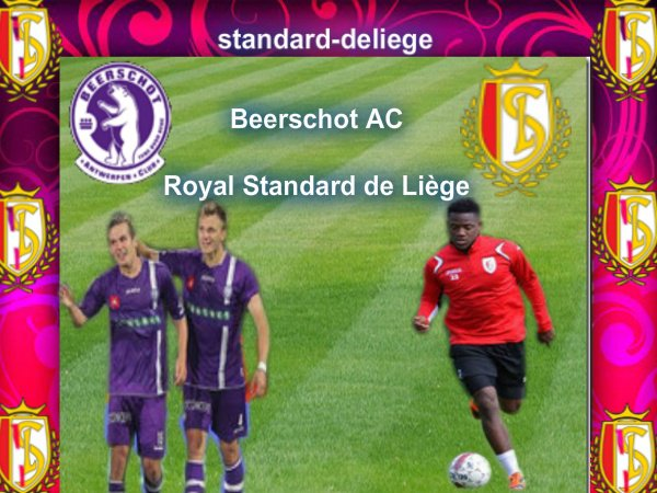 Beerschot AC Royal Standard de Liège 7 JOURNEE JUPILER PRO LEAGUE DIMANCHE 16 SEPTEMBRE 2012