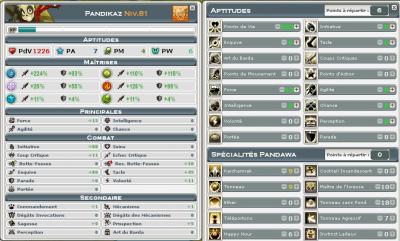 Caractéristiques et équipement de Pandikaz