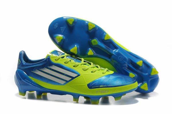 Adidas F50 Adizero - bleu vert