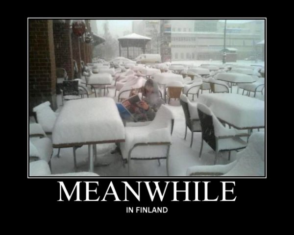 April in Finland :D