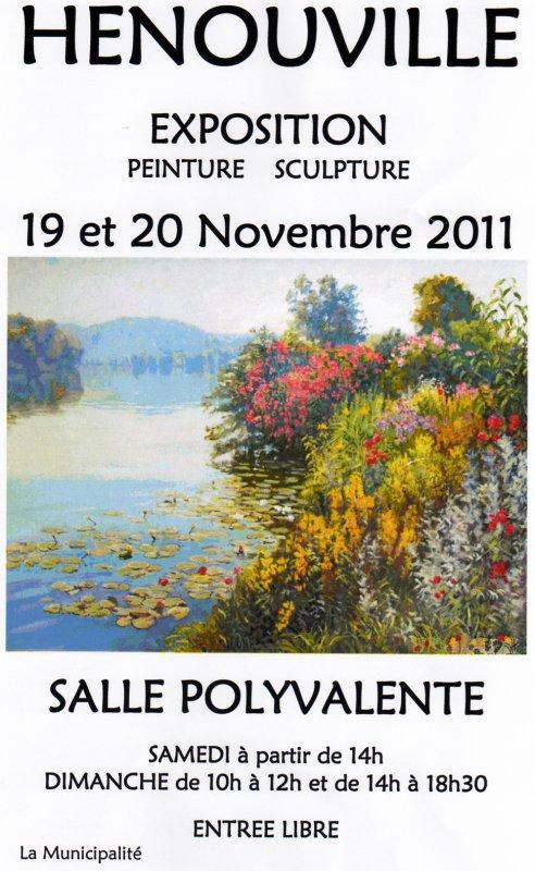Exposition peinture & sculpture à Hénouville (76).