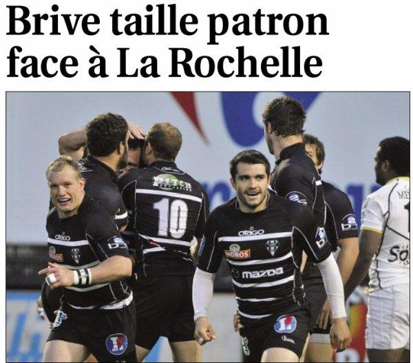 VICTOIRE DE BRIVE FACE A LA ROCHELLE !