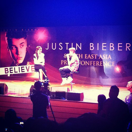 Justin at his press conference in Malaysia today!