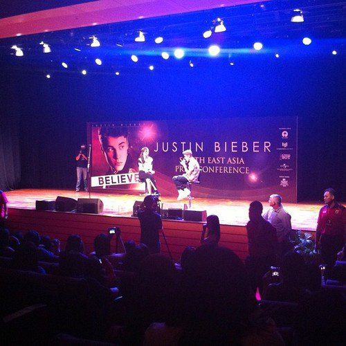 Another photo of Justin at his press conference