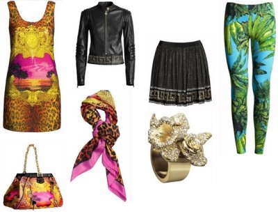 « Vêtements n°1 : Collection Versace pour H&M. »