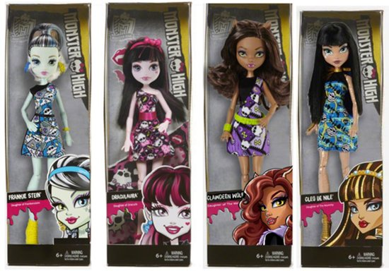 "Les collections Monster High ""douces"""