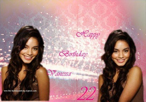 Le 14 Décembre 2010, c'était l'anniversaire de Vanessa, elle le fêtera plutard, le 18 Décembre 2010, à Las Vegas avec ses amis et ses fans.
