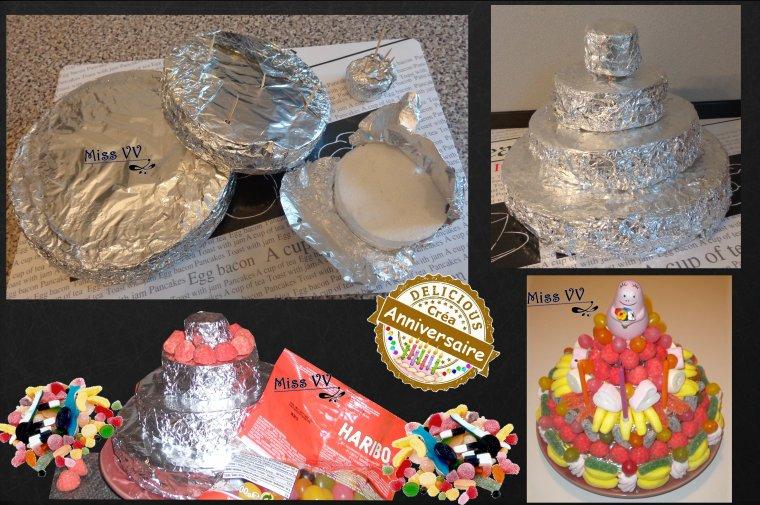 gateau de bonbons pour les enfants les p 39 tites recettes gourmandes de miss vv des. Black Bedroom Furniture Sets. Home Design Ideas