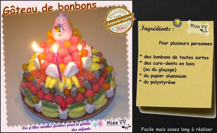 GATEAU DE BONBONS  ( POUR LES ENFANTS )