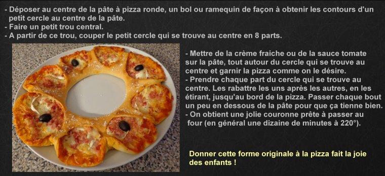 PIZZA COURONNE  ( POUR LES ENFANTS )