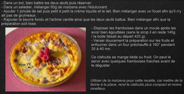 CLAFOUTIS AUX FRAMBOISES , ALLEGE ( POUR LES MAMANS )