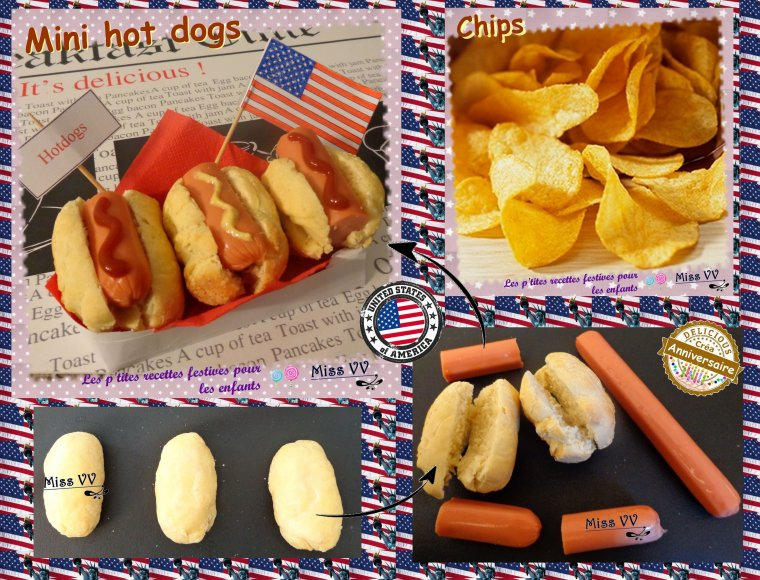 Bien connu ANNIVERSAIRE THEME USA - Les p'tites recettes gourmandes de Miss  DS77