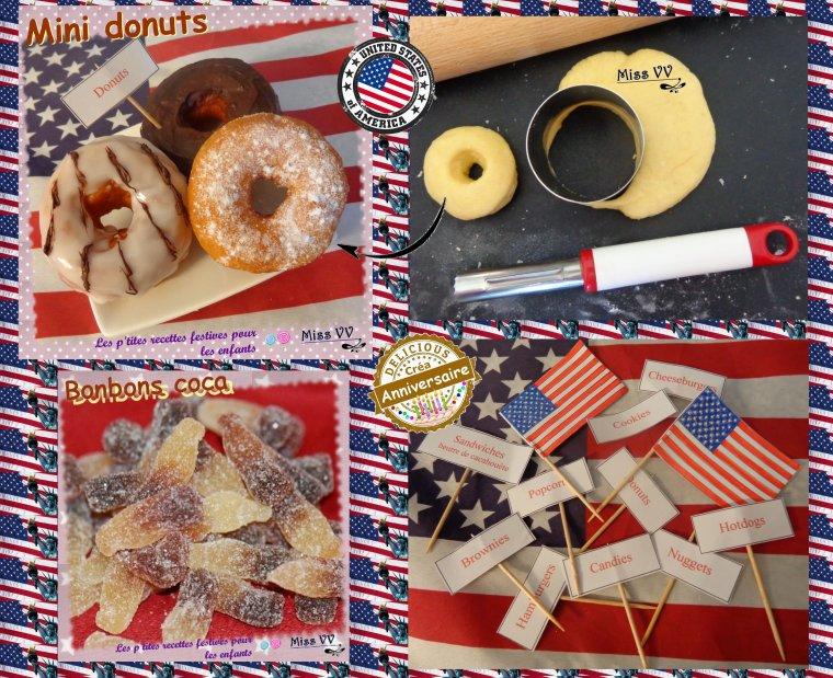 Fabuleux ANNIVERSAIRE THEME USA - Les p'tites recettes gourmandes de Miss  VG63
