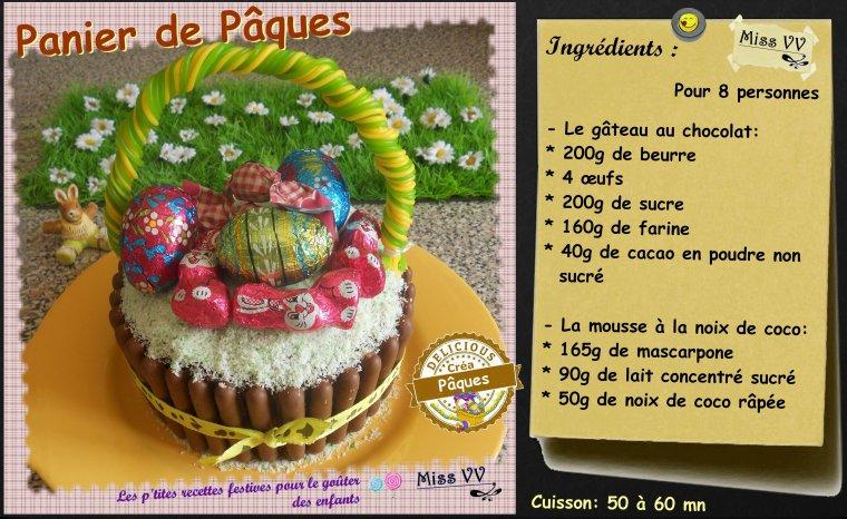 GATEAU PANIER DE PAQUES ( POUR LES ENFANTS )