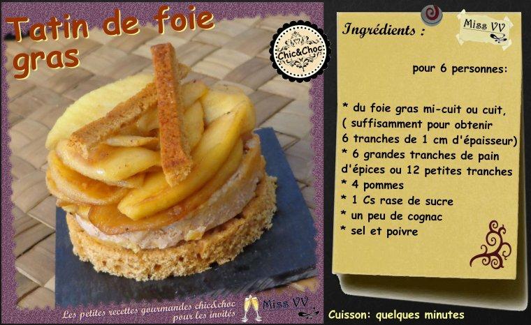 TATIN DE FOIE GRAS  ( POUR LES INVITES ) CHIC&CHOC