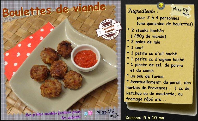 Boulettes de viande pour les enfants les p 39 tites - Comment cuisiner les boulettes de viande ...