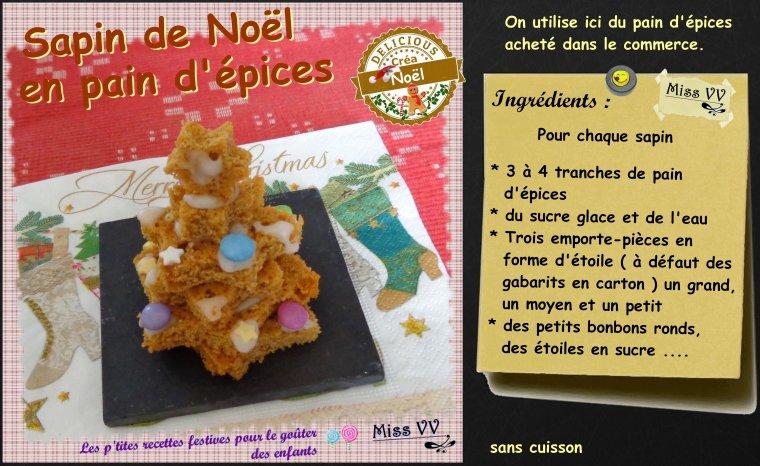 SAPIN 3D sablé ou en pain d'épices ( POUR LES ENFANTS )