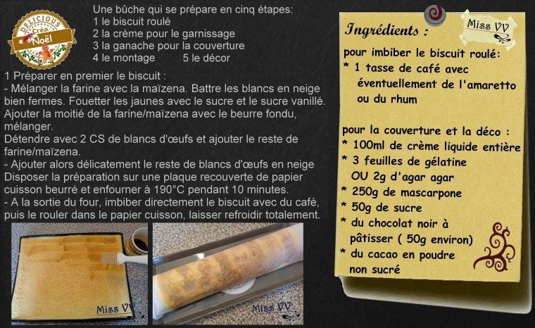 BUCHE DE NOEL FACON TIRAMISU ( POUR LES INVITES )