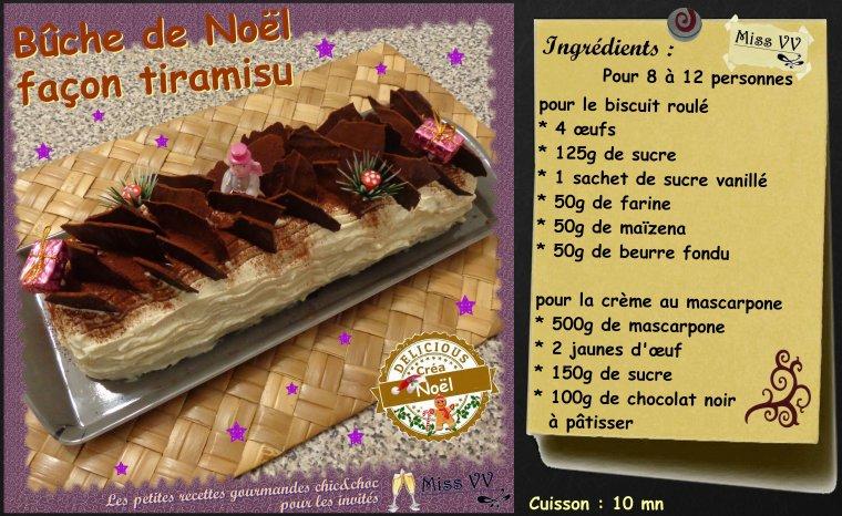 Buche de noel facon tiramisu pour les invites les p - Herve cuisine buche de noel ...