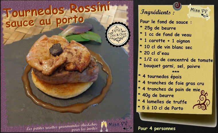 TOURNEDOS ROSSINI  sauce au porto ( POUR LES INVITES )