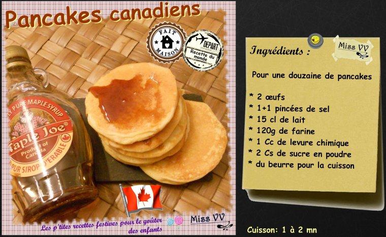 PANCAKES AMERICAINS, FRANCAIS, CANADIENS ( POUR LES ENFANTS )