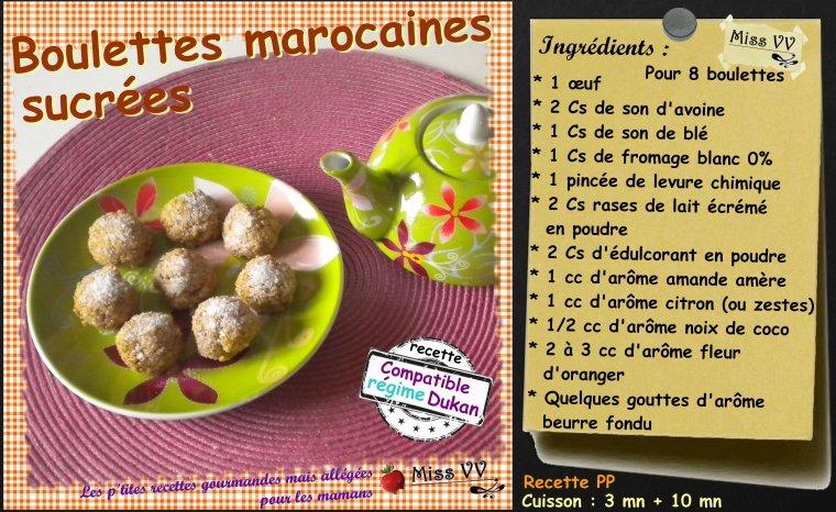 BOULETTES MAROCAINES SUCREES ( POUR LES MAMANS )