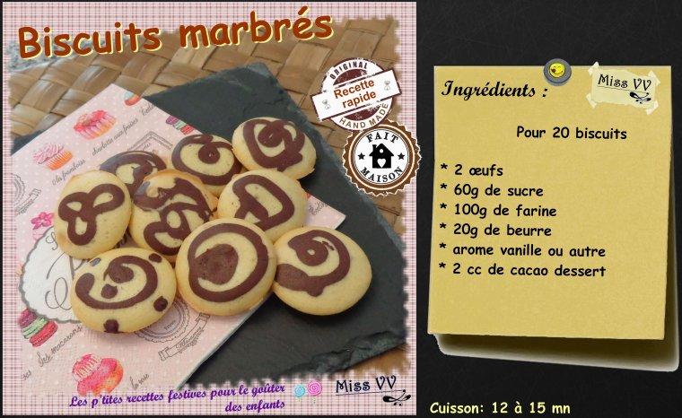 BISCUITS MARBRES ( POUR LES ENFANTS )