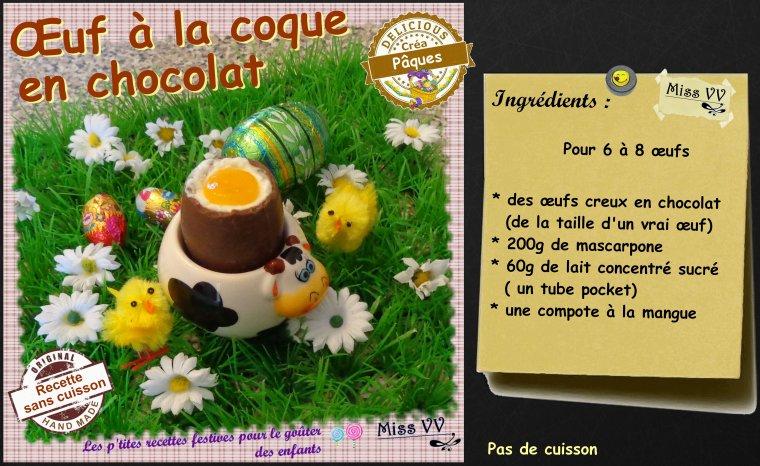 OEUF A LA COQUE EN CHOCOLAT ( POUR LES ENFANTS )