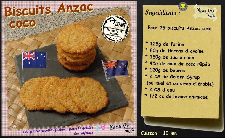 BISCUITS ANZAC ( POUR LES ENFANTS )