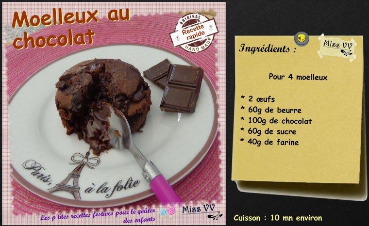 MOELLEUX AU CHOCOLAT ( POUR LES ENFANTS )