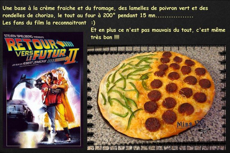 """PIZZA """" Retour vers le futur """" ( POUR LES ENFANTS )"""