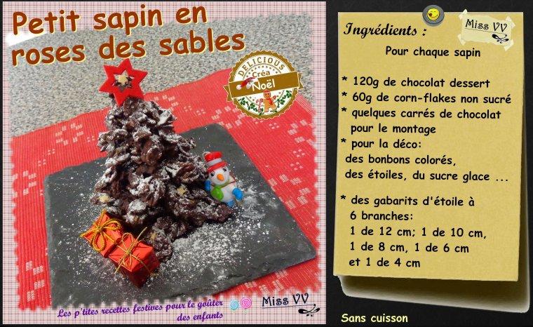 PETIT SAPIN EN ROSES DES SABLES ( POUR LES ENFANTS )