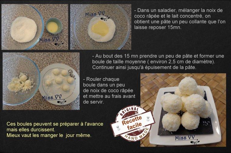 BOULES DE NEIGE à la noix de coco ( POUR LES ENFANTS )