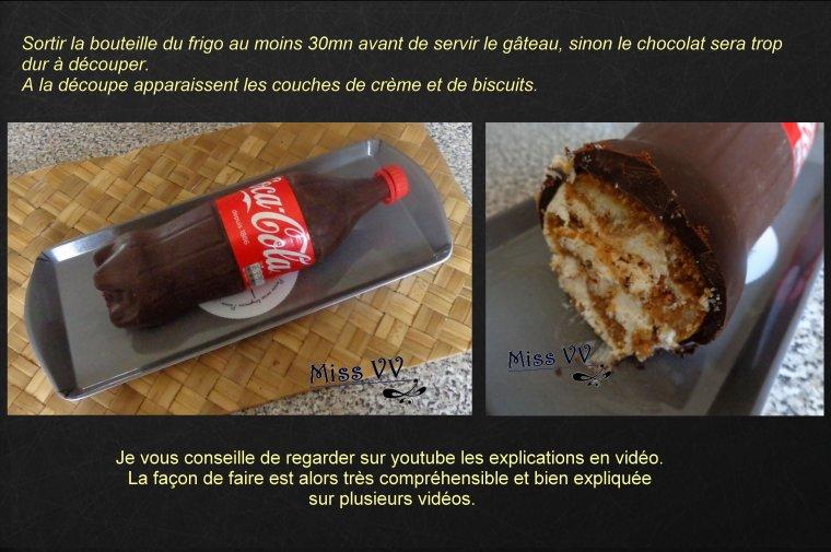 GATEAU BOUTEILLE DE COCA-COLA façon tiramisu ( POUR LES ENFANTS et LES INVITES )